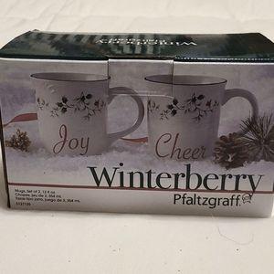 Holiday mugs. Set of two 12 oz BNIB